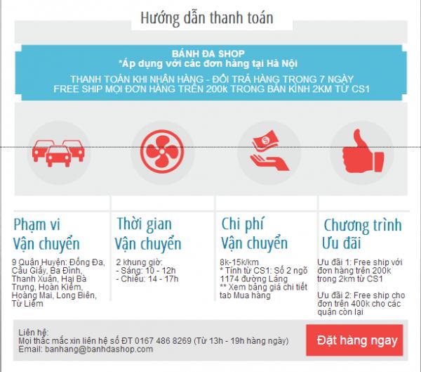 Hướng dẫn thanh toán tại Hà Nội