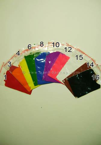 Set 10 túi màu pha
