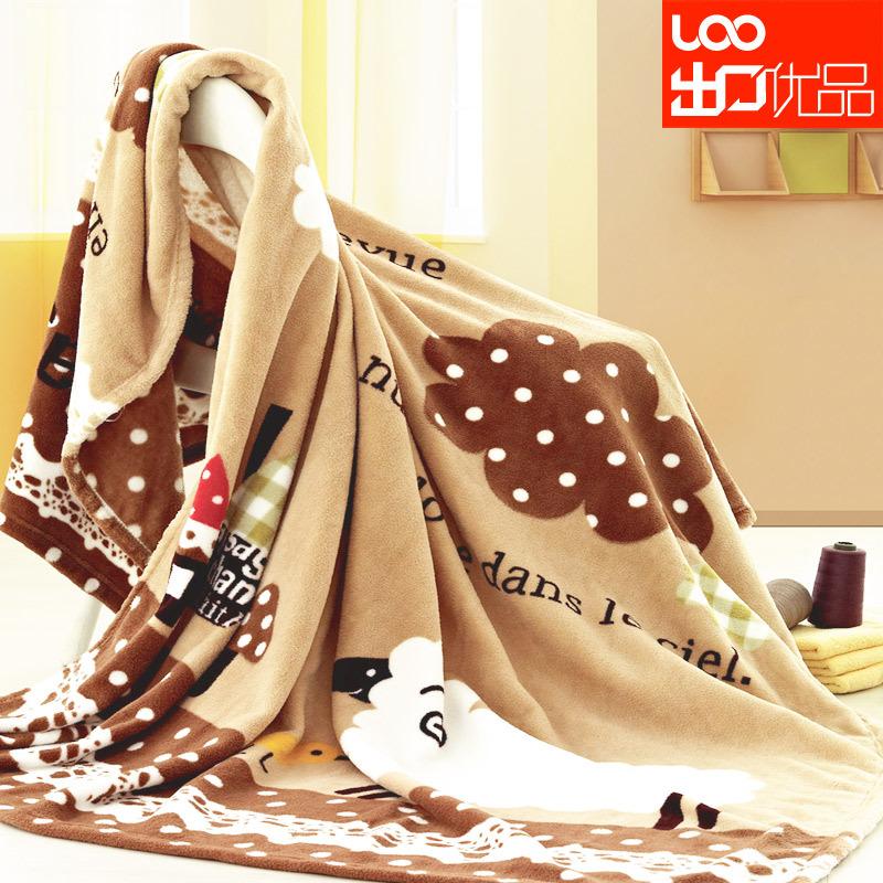 Một chiếc chăn độc đáo với họa tiết dễ thương từ vải nỉ mềm
