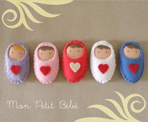 Búp bê đồ chơi vải nỉ cho bé, các mẹ có thể tận dụng làm móc khóa hoặc làm thành búp bê handmade cỡ to :D