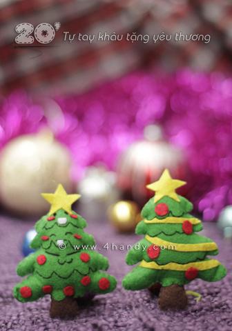 Móc khóa cây thông noel làm quà giáng sinh. Cây thông noel sẽ góp phần làm giáng sinh của bạn thêm ngộ nghĩnh.