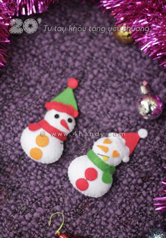 Móc khóa người tuyết làm quà giáng sinh
