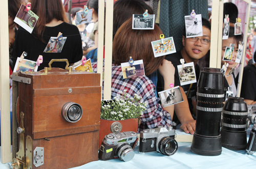 Mintown handmade fair với gian hàng vintage retro