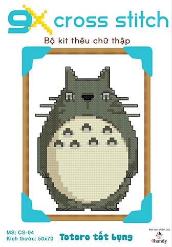 """Mẫu tranh thêu chữ thập """"Totoro tốt bụng"""""""