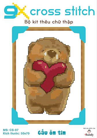 """Mẫu tranh thêu chữ thập """"Gấu béo kute"""""""