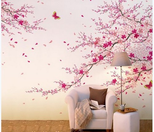 Vẽ tranh tường như thật từ màu Acrylic và màu vẽ tranh chuyên dụng khiến không gian phòng khách thêm bắt mắt