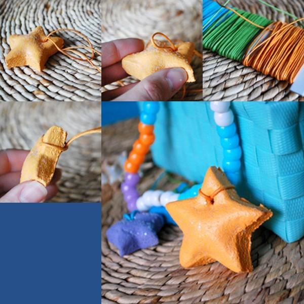 Móc khóa, móc điện thoại làm từ đất sét Nhật khi chưa tô màu acrylic, trang trí.