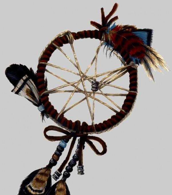 Một chiếc dreamcatcher mô phỏng kiểu truyền thống
