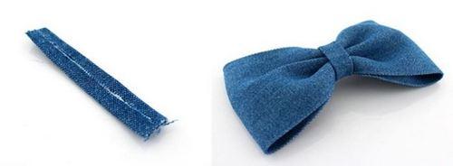 Quấn dải vải handmade xung quanh cho chiếc kẹp nơ của bạn