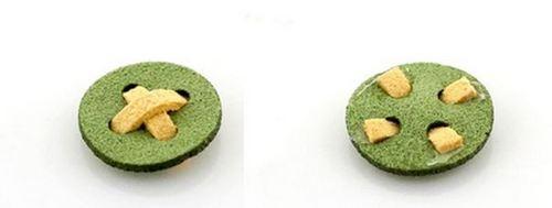 Sợi vải dạ nỉ được gắn chặt vào khuy tròn – nét đặc biệt của kẹp nơ