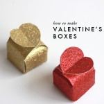 Làm hộp quà bìa mô hình đơn giản cho ngày Valentine
