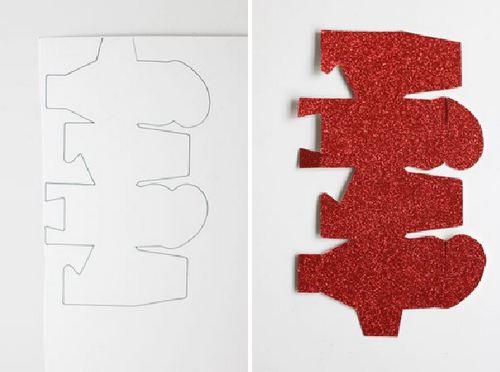Cắt mẫu hộp quà valentine và dính 2 mẫu với nhau