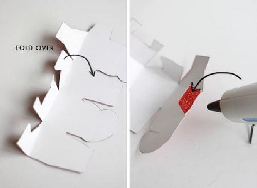 Gấp nếp cho hộp quà valentine