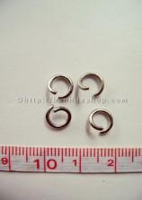 L12 Khoen tròn bạc lớn (nửa lạng)