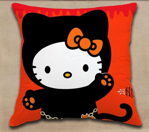 Gối bằng vải nỉ handmade hình Hello kitty cực yêu