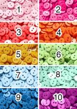 TR50 Khuy tròn 1 cm nhiều màu (10 chiếc)