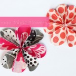 Vải hoa, vải vintage|Làm hoa handmade xinh xắn từ vải hoa.