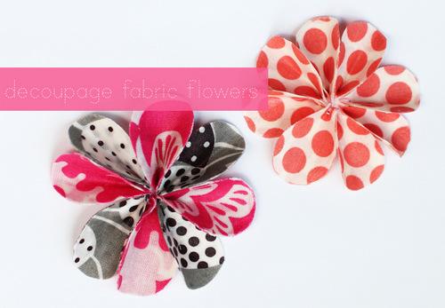 Cách làm hoa vải chấm bi, làm hoa handmade từ vải hoa