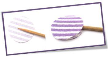 Cách làm hoa  vải vintage với phần cuống từ tăm