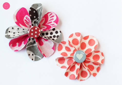 Khuy xinh xắn giúp hoa vải vintage, vải handmade thêm nổi bật