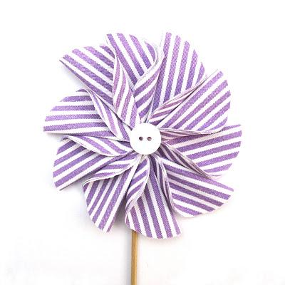 Cách làm hoa vải vintage hình chong chóng độc đáo