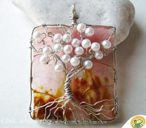 Cách làm dây chuyền handmade tree of life với hạt vòng