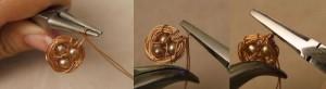 Để lồng mặt dây chuyền handmade, dùng kìm uốn móc nhỏ