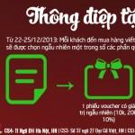 Event Giáng sinh:Thông điệp tặng Bánh Đa