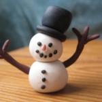 Người tuyết đáng yêu từ đất sét Nhật –  sản phẩm đất sét Nhật khiến bạn mê mẩn
