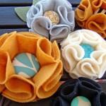 Làm hoa bằng vải dạ handmade cùng Bánh Đa Shop