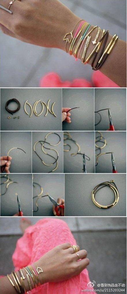 44 440x1020 1 loạt cách sáng tạo vòng handmade từ dây cói, sequin, dây da và ngọc trai