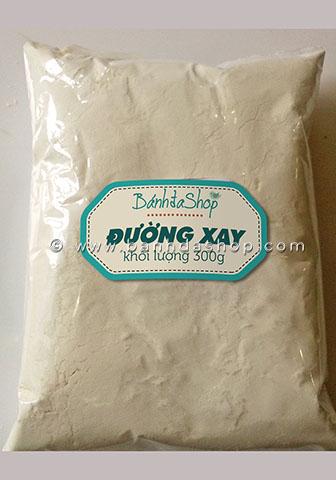 Đường xay là nguyên liệu làm bánh không nên trữ nhiều vì để hở sẽ dễ vón cục hoặc thu hút kiến.