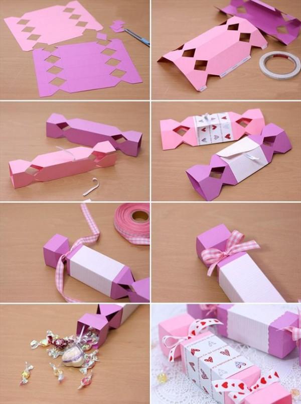Cách gói quà valentine hình thanh kẹo
