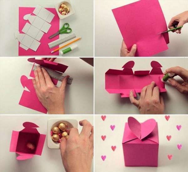 Cách làm hộp quà valentine heart wings