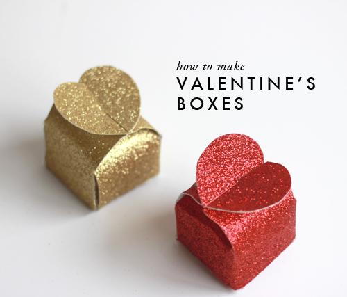 Cách Làm hộp quà bìa mô hình ngày valentine