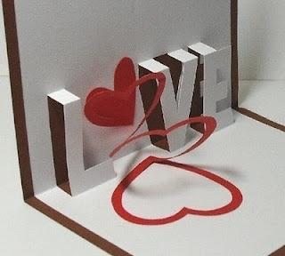 """Một cách làm thiệp valentine handmade """"học theo"""""""