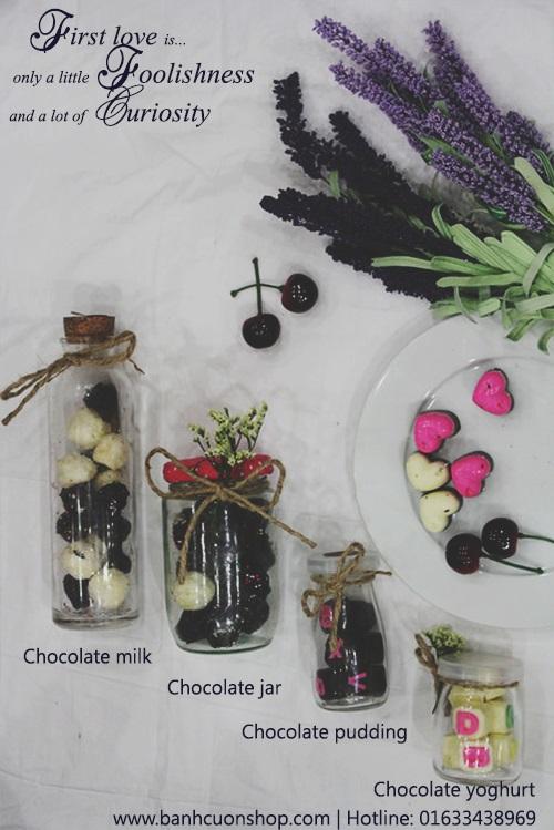 Có 4 loại socola valentine lọ thủy tinh cho bạn tha hồ lựa chọn