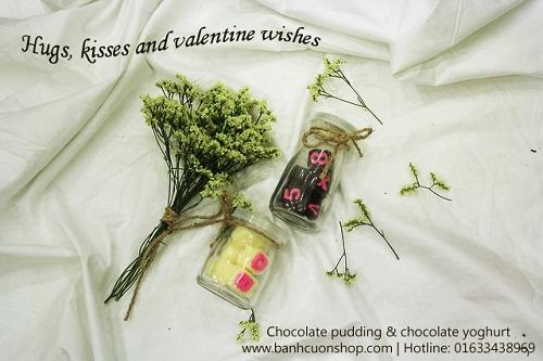 Socola valentine ý nghĩa độc đáo trong lọ thủy tinh trong suốt