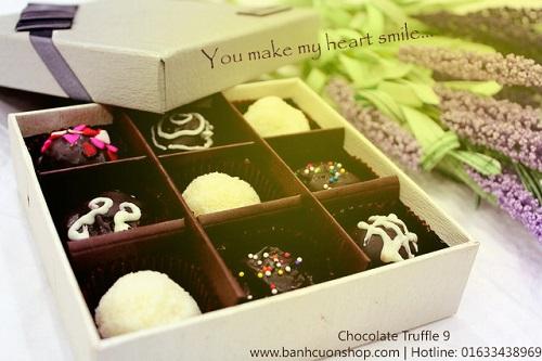 Món quà bất ngờ với truffle socola valentine