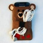 Cách làm bao điện thoại hình gấu siêu dễ thương