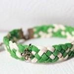 Tết vòng tay handmade xinh xắn, dễ thương từ da lộn.