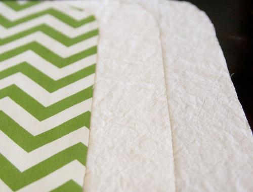 Cắt 2 miếng vải lót may túi vải handmade