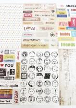 Bộ hình dán Retro postmark