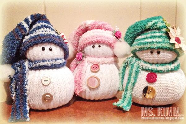 Làm người tuyết tặng bé yêu dịp giáng sinh