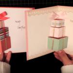 Làm thiệp noel 3d hình hộp quà cực đơn giản