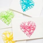 Học làm thiệp len trái tim đơn giản mà độc đáo