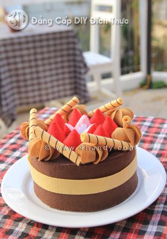 3D 12 1 Bánh gato vải nỉ ngon không thể cưỡng!!!